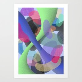 Abstract Colorful Textures Shapes #2 Art Print