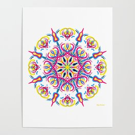 """CMYK in bloom"" Poster"