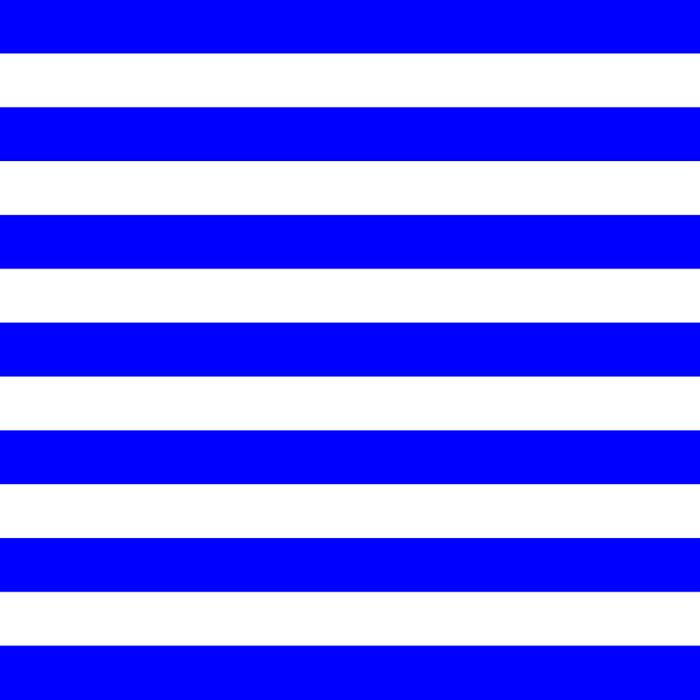 Horizontal Stripes (Blue/White) Duvet Cover