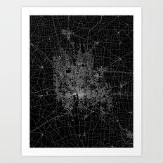Columbus map ohio Art Print