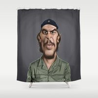 che Shower Curtains featuring Celebrity Sunday ~ Che Guevara by rob art | illustration