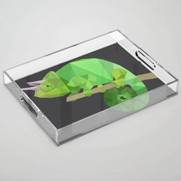 Low Poly Chameleon Acrylic Tray