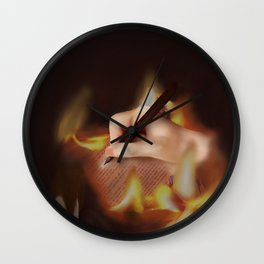 Fire lecture Wall Clock