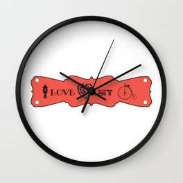 I Love my Bicycle Cycle Theme Art Print Wall Decoration Contemporary Wall Design Graphic Wall Clock