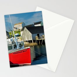 The Boat Harbour Mist in Peggy's Cove Stationery Cards