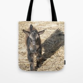 Small Nubian Goat and shadow Tote Bag