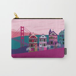 San FranciscoPainted Ladies and Golden Gate Carry-All Pouch