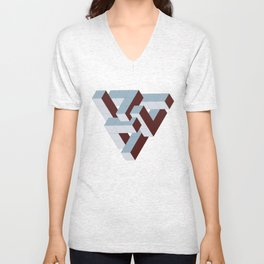 Six Part Pyramid Unisex V-Neck