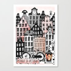 Midnight in Amsterdam  Canvas Print