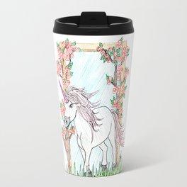 Unicorn and roses Travel Mug