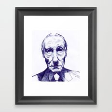 William S. Burroughs Framed Art Print