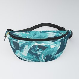 Blue flower blooms Fanny Pack