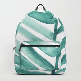 Green Palm Leaf Crop Backpack