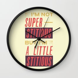 A Little Stitious (The Office) Wall Clock