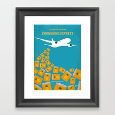 No835 My Chungking Express minimal movie poster Framed Art Print