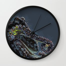 """Release the Kraken"" - Giant Octopus Digital Illustration Wall Clock"