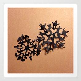 snow in black 001 Art Print