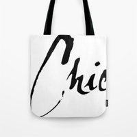 chic Tote Bags featuring Chic by Beauti Asylum