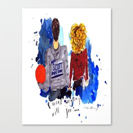 Peyton and Lucas, One Tree Hill Canvas Print