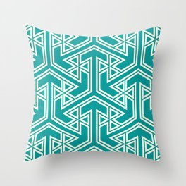 three_triangle_four Throw Pillow
