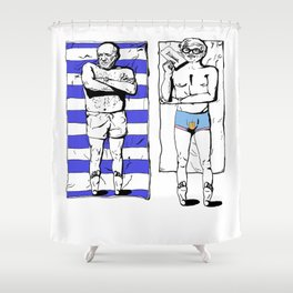 Picasso and Hockney- Great expectations Shower Curtain