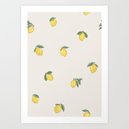 Little Lemons Art Print