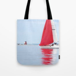 Straights of Mackinac Tote Bag
