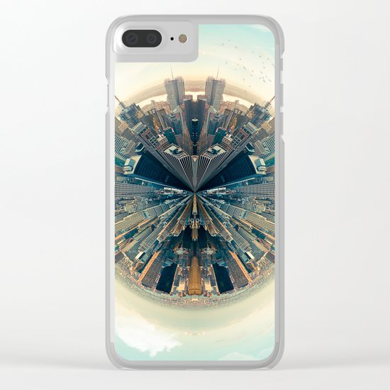 Parallel New York Cities Clear iPhone Case