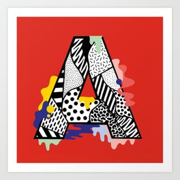 A for ….. Art Print
