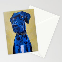 Hank the Great Dane Oil Painting Stationery Cards