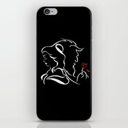 Beauty And Beast BW iPhone Skin
