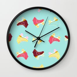 Roller skate love Wall Clock