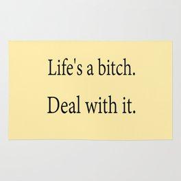 Life's A Bitch Rug