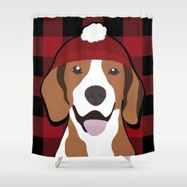 Flannel Doggo Shower Curtain