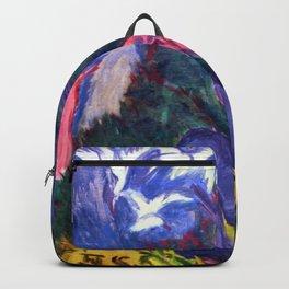 Seagull Hunter in the Woods - Ernst Ludwig Kirchner Backpack