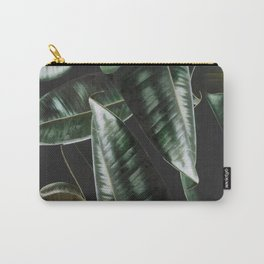 Rubber Plant Black Carry-All Pouch