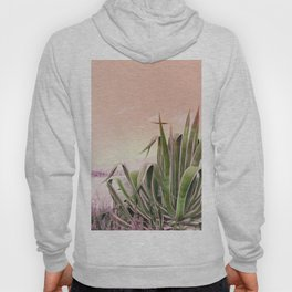 Agave in the Garden on Pastel Coral Hoody