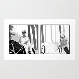 Laurent and Damen Art Print