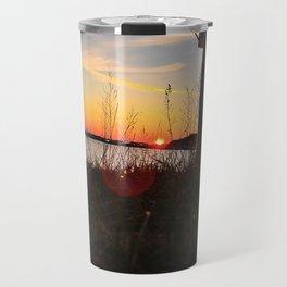 Spring Sunset Behind the Casco Bay Bridge Travel Mug