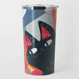 Trumpet Cat Travel Mug