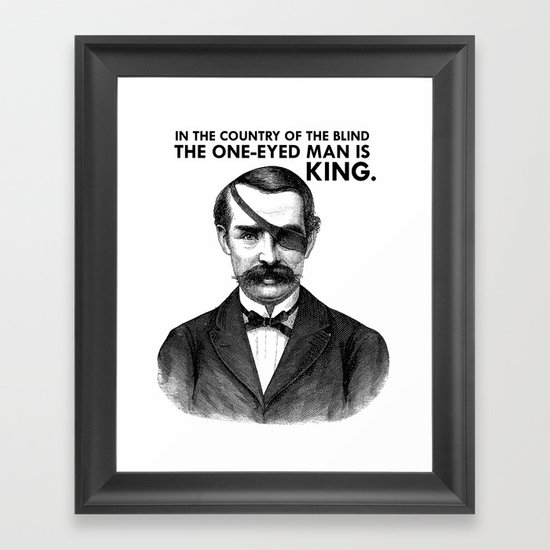 ONE-EYED KING  Framed Art Print