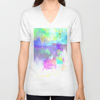 rio V-neck T-shirts featuring Rio by LuaMA