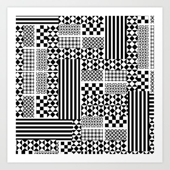 No colors! | Cool Black and White Monochromatic Trendy Patterns Art Print