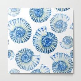 Sea Life Pattern 04 Metal Print