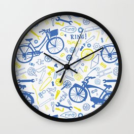 All about the bikes Wall Clock