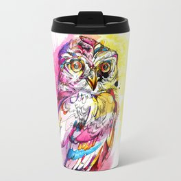 Neon Northern Pygmy Owl Travel Mug