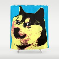 doge Shower Curtains featuring Doge Pop by Julien