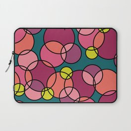 A Heart with Circles Coral Pink Purple Green Laptop Sleeve