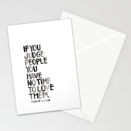 Judge Not Stationery Cards