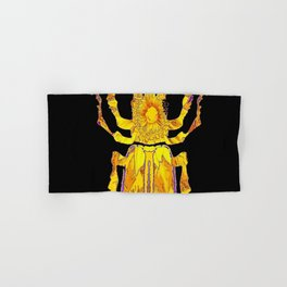 GOLDEN STAG HORNED STYLE BEETLE ABSTRACT BLACK Hand & Bath Towel